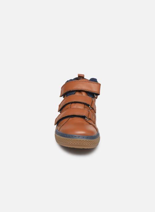 Baskets I Love Shoes SOHAN LEATHER Marron vue portées chaussures