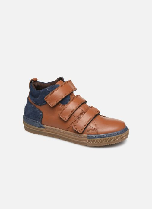 Baskets I Love Shoes SOHAN LEATHER Marron vue détail/paire