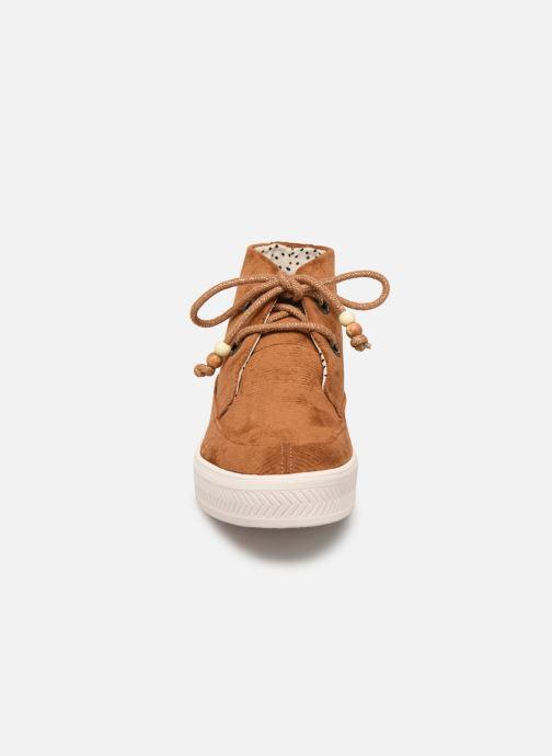 Baskets Armistice Sonar Mid W Marron vue portées chaussures