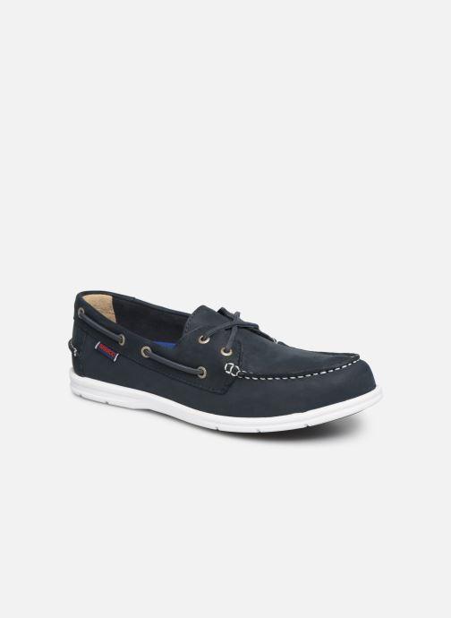 Chaussures à lacets Sebago Litesides Two Eye Fg Bleu vue détail/paire