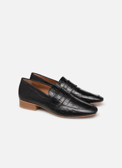 Loafers Made by SARENZA Retro Dandy Mocassin #3 Black back view