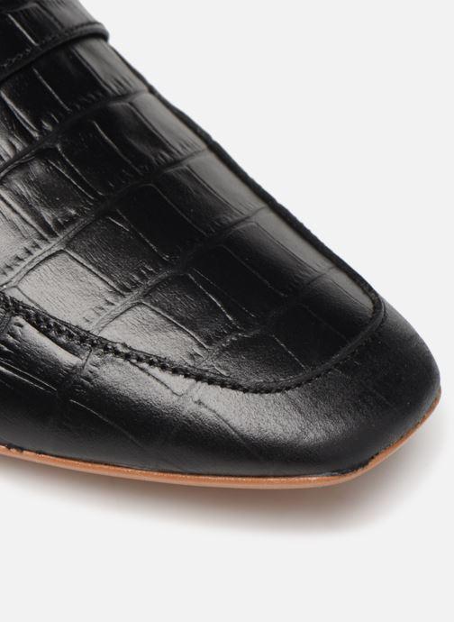 Slipper Made by SARENZA Retro Dandy Mocassin #3 schwarz ansicht von links