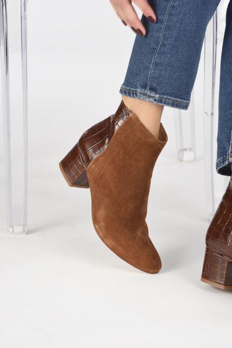 Bottines et boots Made by SARENZA Soft Folk Boots #14 Marron vue bas / vue portée sac