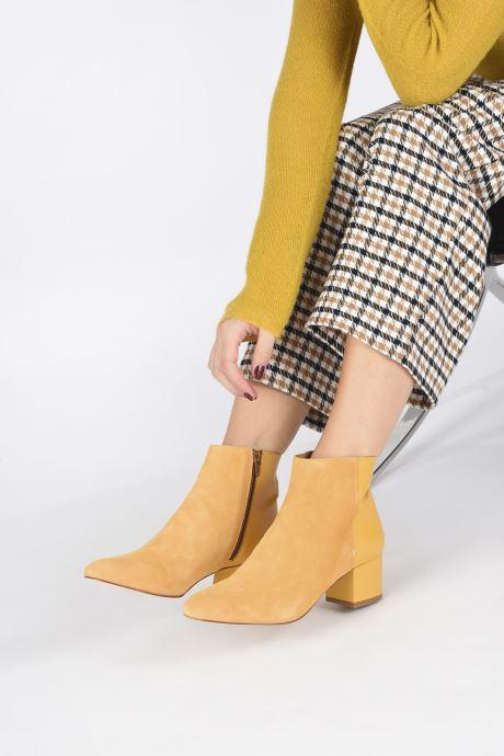 Bottines et boots Made by SARENZA Soft Folk Boots #14 Jaune vue bas / vue portée sac