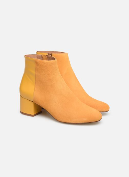 Botines  Made by SARENZA Soft Folk Boots #14 Amarillo vistra trasera