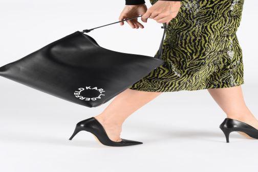 Sacs à main Karl Lagerfeld KARL DOTS MEDIUM HOBO Noir vue bas / vue portée sac