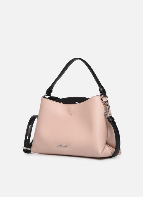 Handbags KARL LAGERFELD KARL DOTS SMALL HOBO Pink model view