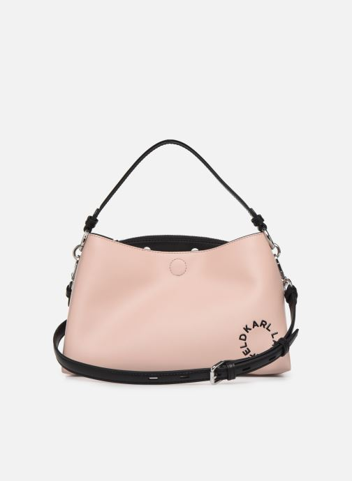 Handbags KARL LAGERFELD KARL DOTS SMALL HOBO Pink front view