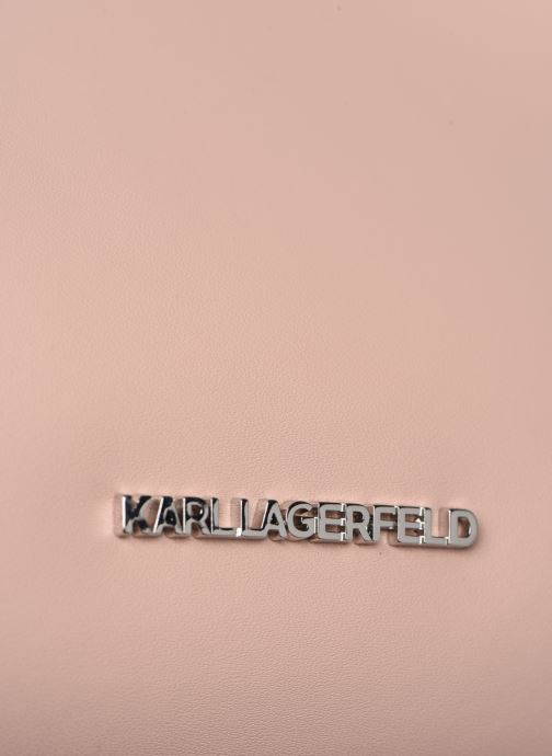 Handbags KARL LAGERFELD KARL DOTS SMALL HOBO Pink view from the left