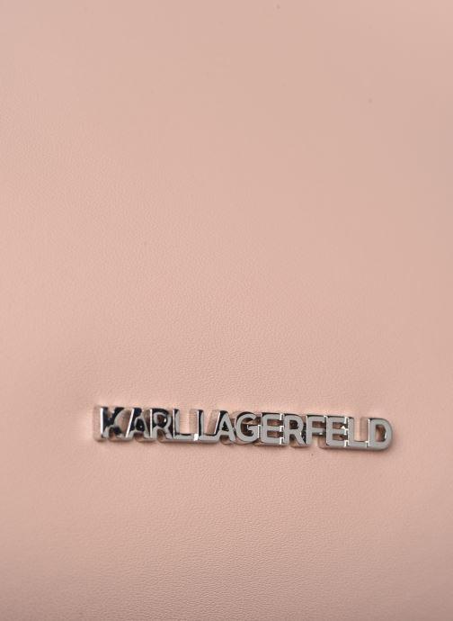 Bolsos de mano Karl Lagerfeld KARL DOTS SMALL HOBO Rosa vista lateral izquierda