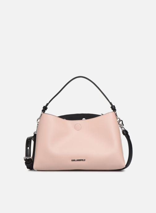 Bolsos de mano Karl Lagerfeld KARL DOTS SMALL HOBO Rosa vista de detalle / par