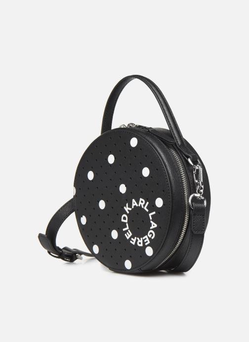 Sacs à main Karl Lagerfeld KARL DOTS ROUND CROSSBODY Noir vue portées chaussures