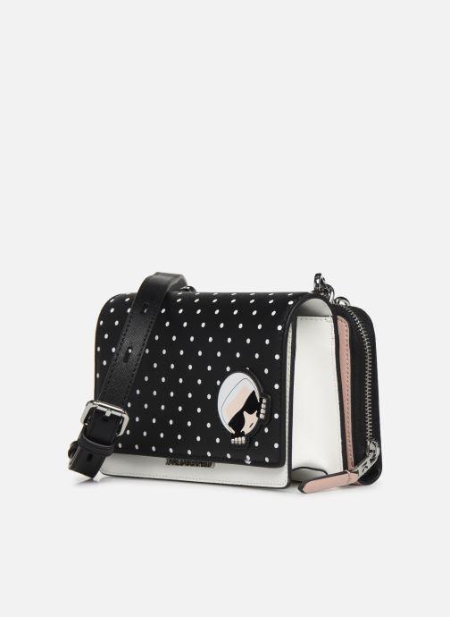 Petite Maroquinerie KARL LAGERFELD KARL DOTS CROSSBODY DOUBLE POUCH Noir vue portées chaussures