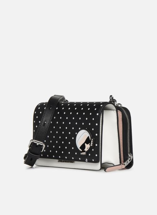 Kleine lederwaren Karl Lagerfeld KARL DOTS CROSSBODY DOUBLE POUCH Zwart model