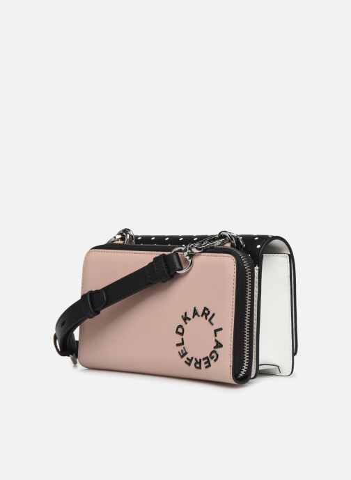 Marroquinería pequeña Karl Lagerfeld KARL DOTS CROSSBODY DOUBLE POUCH Negro vista lateral derecha
