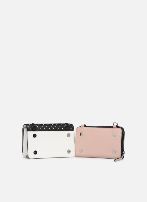 Kleine lederwaren Karl Lagerfeld KARL DOTS CROSSBODY DOUBLE POUCH Zwart links