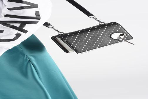 Petite Maroquinerie KARL LAGERFELD KARL DOTS CROSSBODY DOUBLE POUCH Noir vue bas / vue portée sac