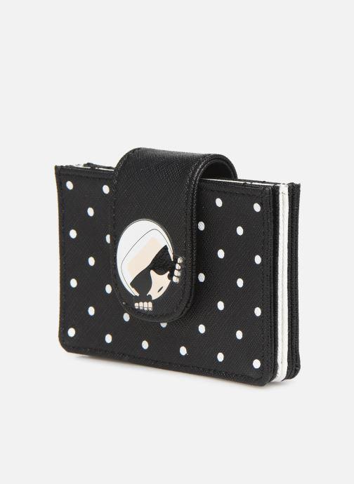 Kleine lederwaren Karl Lagerfeld KARL DOTS CARDHOLDER Zwart model