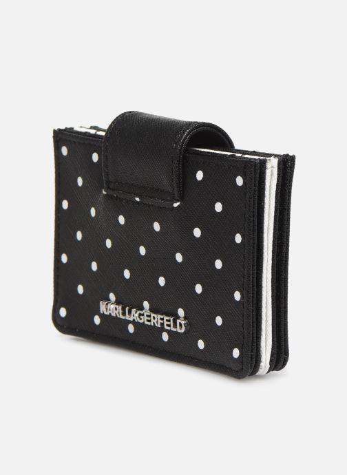 Petite Maroquinerie Karl Lagerfeld KARL DOTS CARDHOLDER Noir vue droite