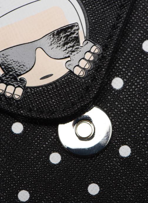 Kleine lederwaren Karl Lagerfeld KARL DOTS CARDHOLDER Zwart links