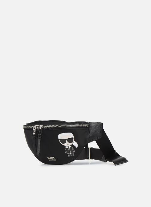 Petite Maroquinerie Karl Lagerfeld K/IKONIK NYLON BUMBAG Noir vue portées chaussures