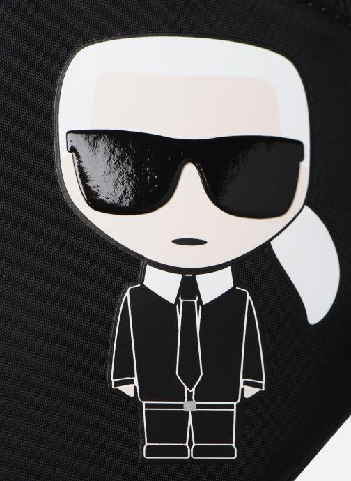 Kleine lederwaren Karl Lagerfeld K/IKONIK NYLON BUMBAG Zwart links