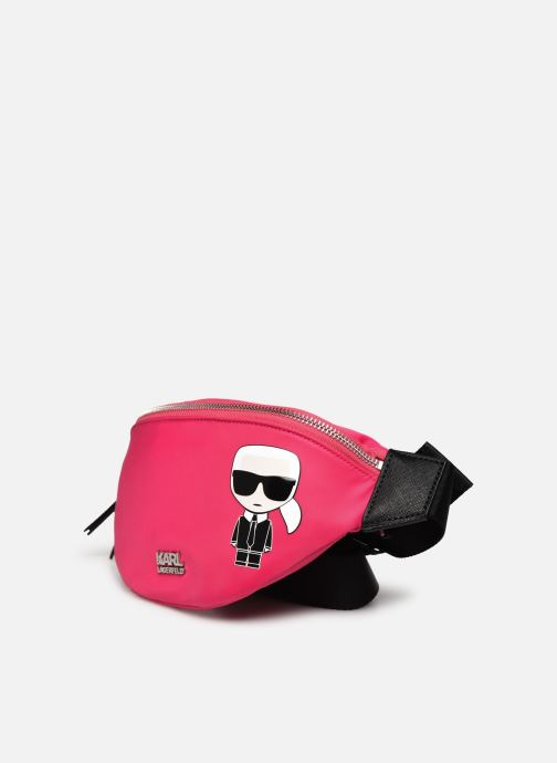 Petite Maroquinerie Karl Lagerfeld K/IKONIK NYLON BUMBAG Rose vue portées chaussures