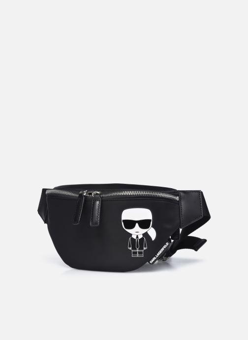 Bolsos de mano Karl Lagerfeld K/IKONIK NYLON BUMBAG Negro vista del modelo