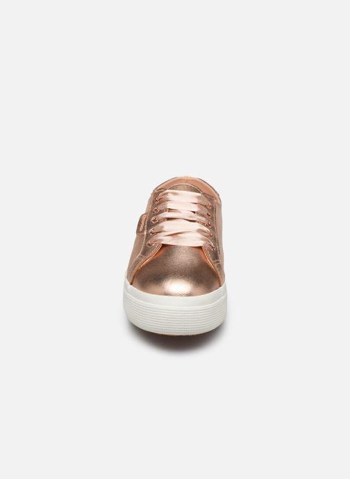 Baskets Superga 2730- Leanappamattmirrorw Rose vue portées chaussures