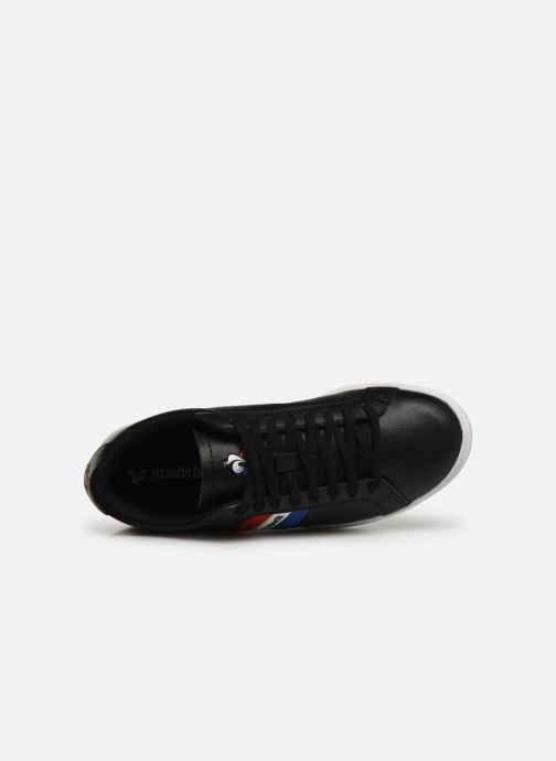 Trainers Le Coq Sportif Courtflag GS Black view from the left