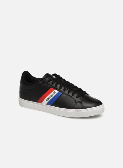 Trainers Le Coq Sportif Courtflag GS Black detailed view/ Pair view