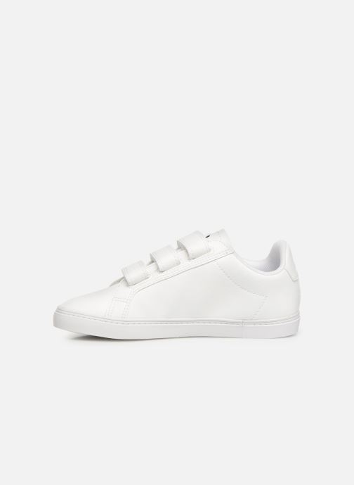 Trainers Le Coq Sportif Courtflag PS White front view
