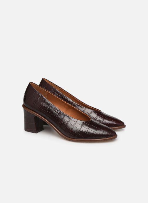 Zapatos de tacón Miista Bernadette Marrón vista 3/4
