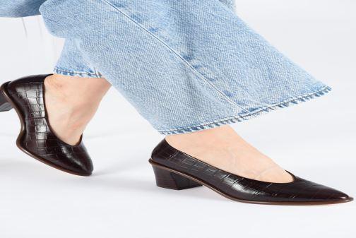 Zapatos de tacón Miista Bernadette Marrón vista de abajo