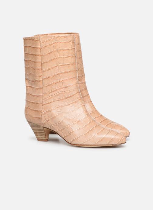 Bottines et boots Miista Liza Beige vue 3/4