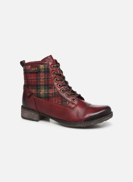 Bottines et boots Remonte Annabelle Bordeaux vue détail/paire