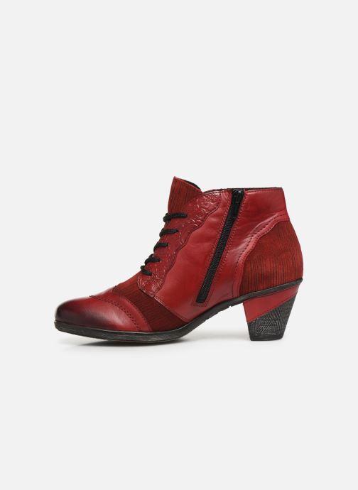 Bottines et boots Remonte Moon Rouge vue face