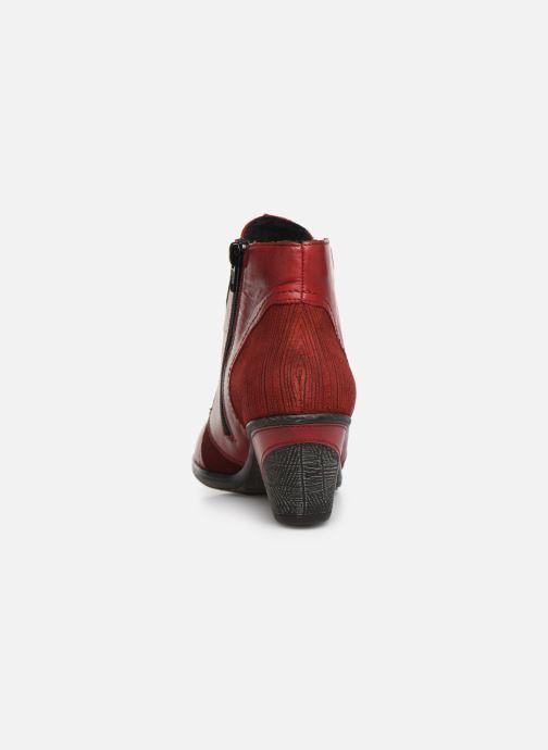 Bottines et boots Remonte Moon Rouge vue droite