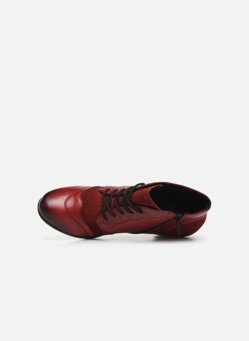 Bottines et boots Remonte Moon Rouge vue gauche