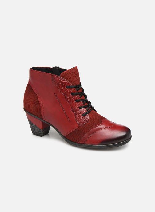 Bottines et boots Remonte Moon Rouge vue détail/paire