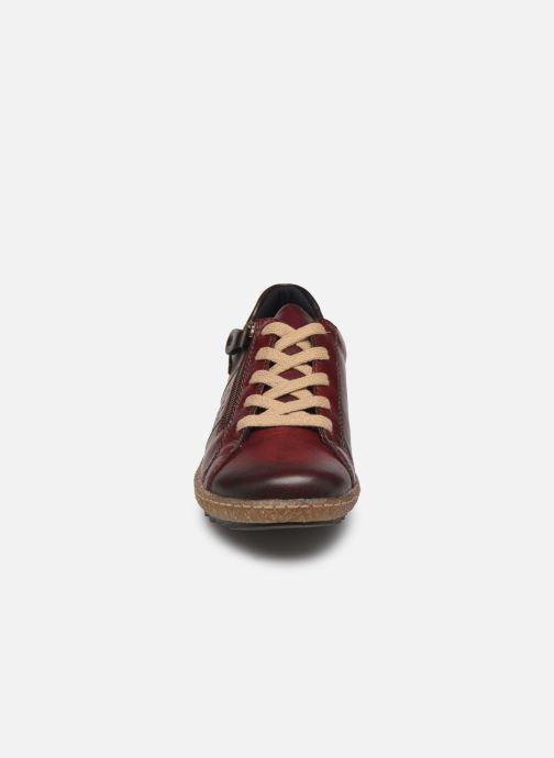 Baskets Remonte Purpl Bordeaux vue portées chaussures