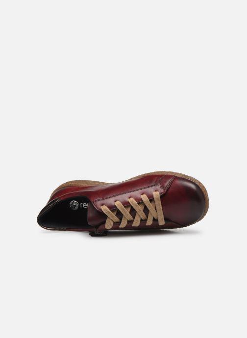 Sneakers Remonte Purpl Bordeaux se fra venstre