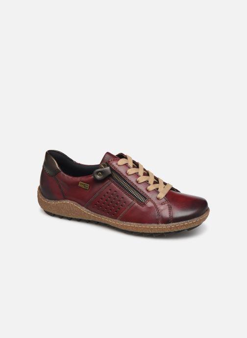 Sneakers Remonte Purpl Bordeaux detaljeret billede af skoene