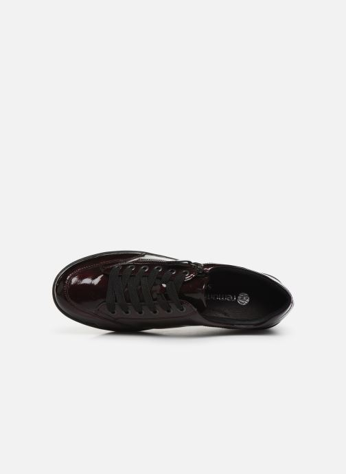 Trainers Remonte Elisa Burgundy view from the left
