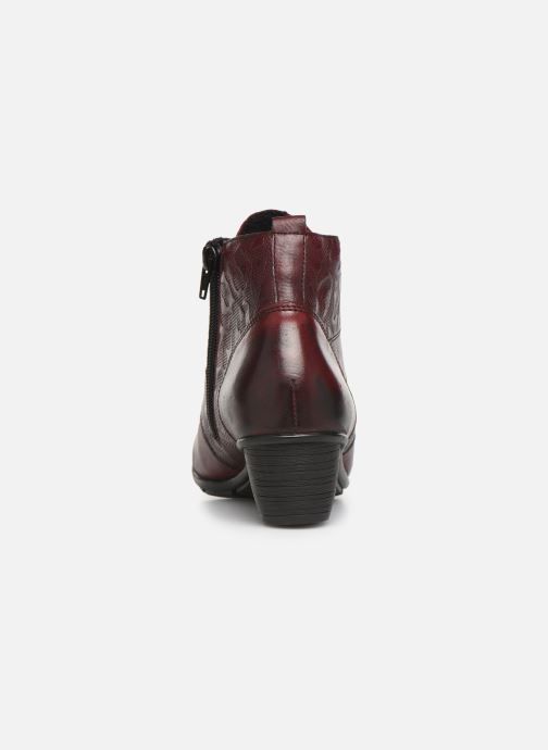 Ankle boots Remonte Moana Burgundy view from the right