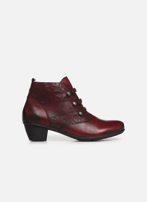 Ankle boots Remonte Moana Burgundy back view