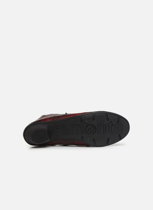 Ankle boots Remonte Moana Burgundy view from above