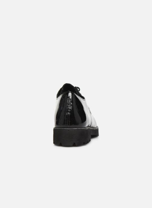 Zapatos con cordones Remonte Monica Negro vista lateral derecha