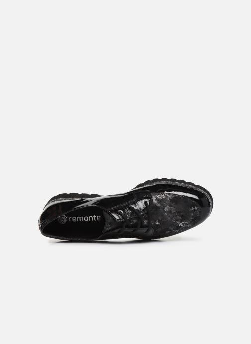 Zapatos con cordones Remonte Monica Negro vista lateral izquierda