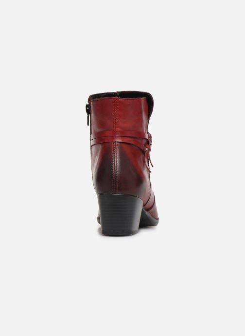 Bottines et boots Remonte Draf Rouge vue droite